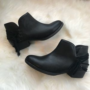 Sugar Black Tassel Ankle Booties Boots Shoes  7